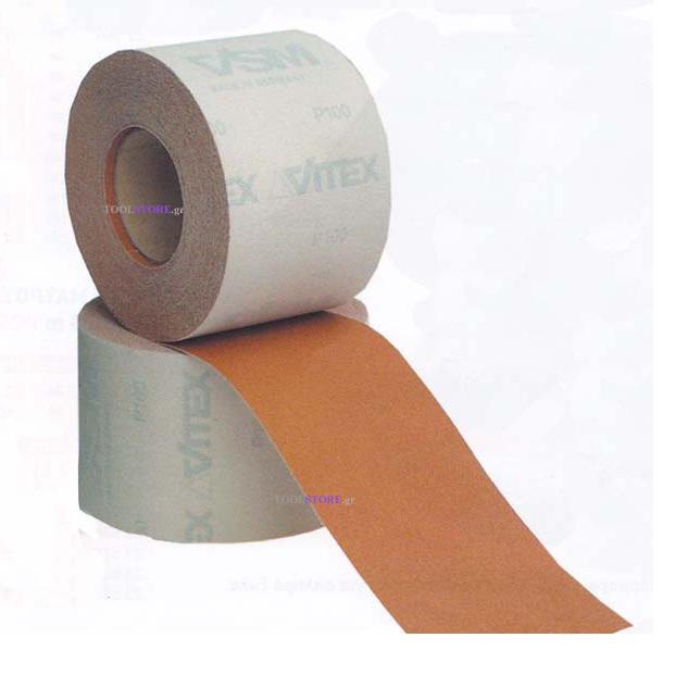 γυαλοχαρτο aluminium oxide VELCRO μπεζ 1μετροΧ115mm κοκκωση 100