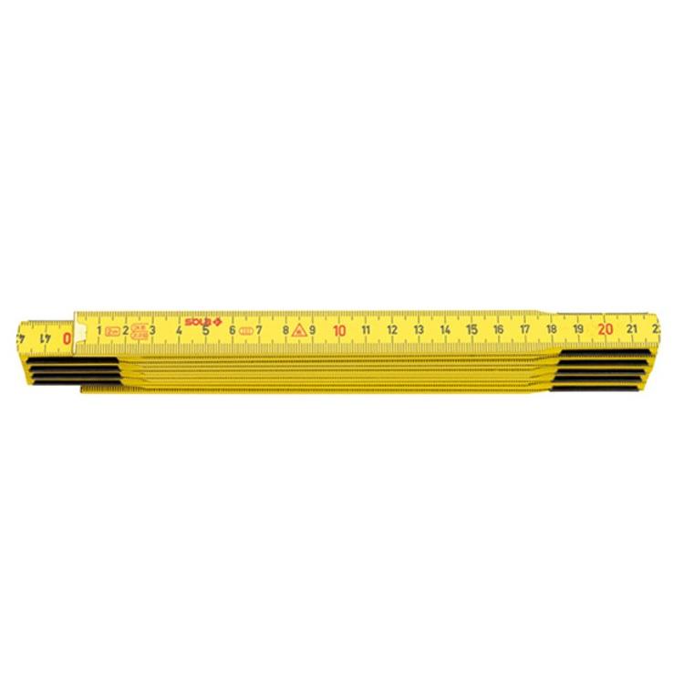 μετρο ξυλινο 2Μ sola κιτρινο