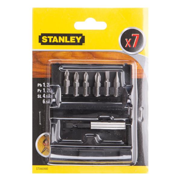 STANLEY STA60480 σετ μυτες 7 τμχ ισιες , Ph , Pz