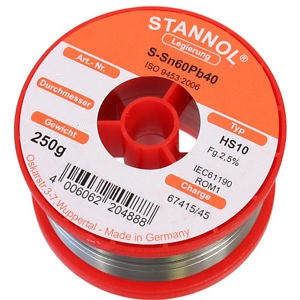 συρμα κολληση STANNOL Sn40Pb60 2.0mm 250g