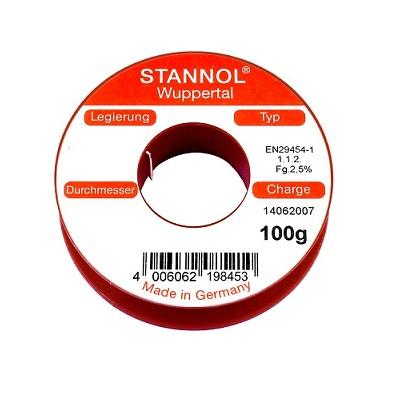 συρμα κολληση STANNOL Sn60Pb39Cu1 1mm 100g