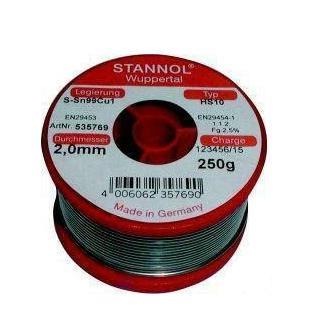 συρμα κολληση STANNOL Sn40Pb60 1.5mm 250g