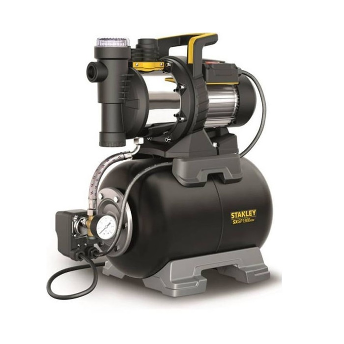 STANLEY SXGP1300XFBE, αυτόματο πιεστικό 1300W, με ενσωματωμένο φίλτρο νερού, made in Italy