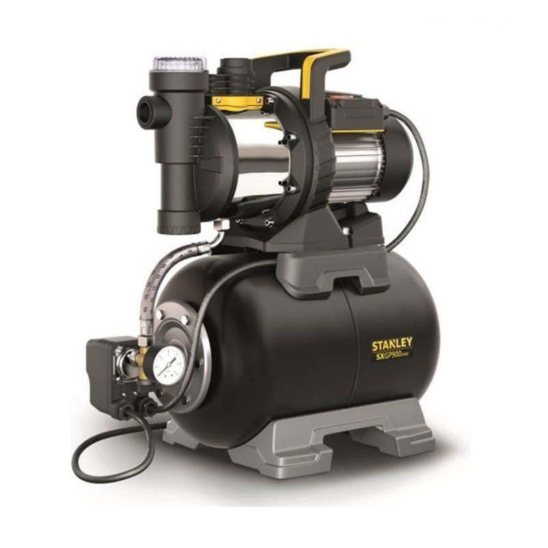 STANLEY SXGP900XFBE, αυτόματο πιεστικό 900W, με ενσωματωμένο φίλτρο νερού, made in Italy