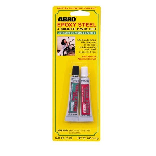 εποξικη κολλα μεταλλων ABRO EPOXY STEEL KWIK-SET 14.2gr, made in U.S.A.