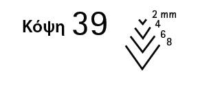 κόψη 39 - μεγέθη