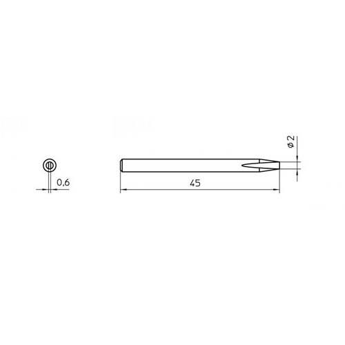 Weller SP15N κολλητηρι ανταλλακτικη μυτη longlife 2.0mm
