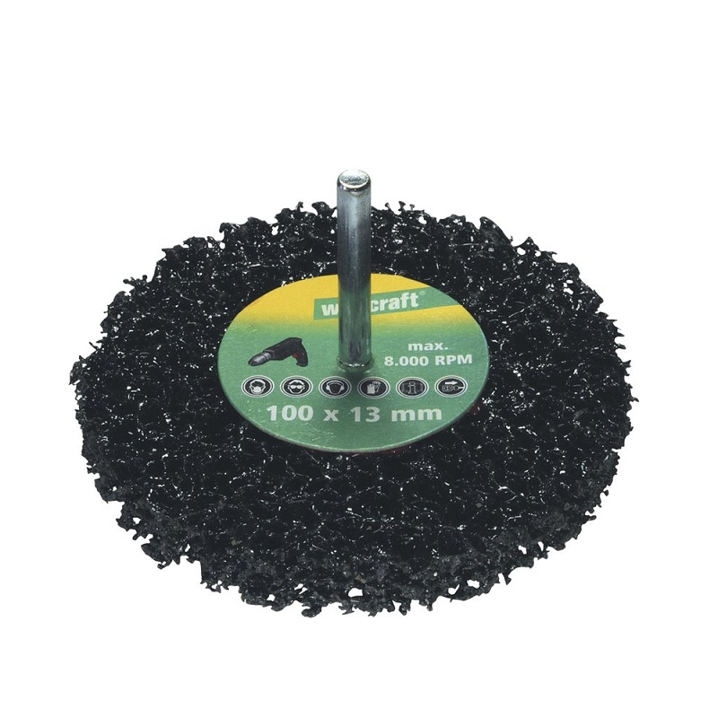 wolfcraft 1674000 δισκος γενικου καθαρισμου για δραπανο 100X13mm